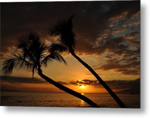 Ka'anapali Beach Sunset Metal Print