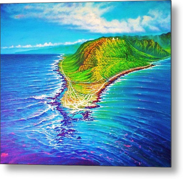 Kaena Point Refractions Metal Print
