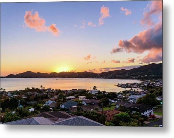 Kaneohe Bay Sunrise 1 Metal Print