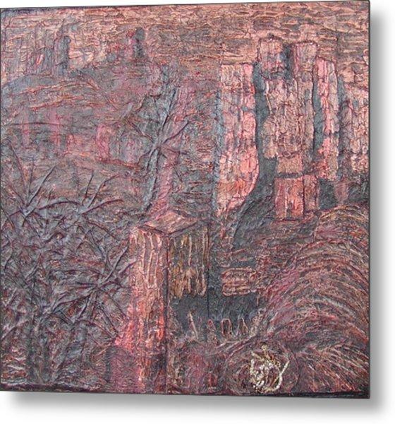 Kasbah 03 2008 Metal Print by Mohamed-Hosni Belkorchi