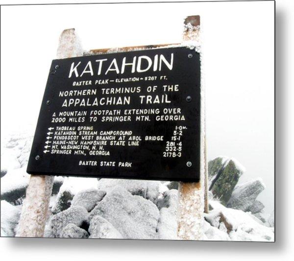 Katahdin - Baxter Peak Metal Print