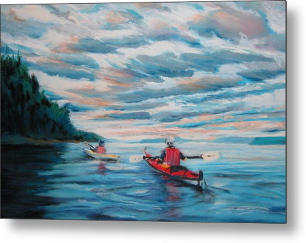 Kayakers Metal Print