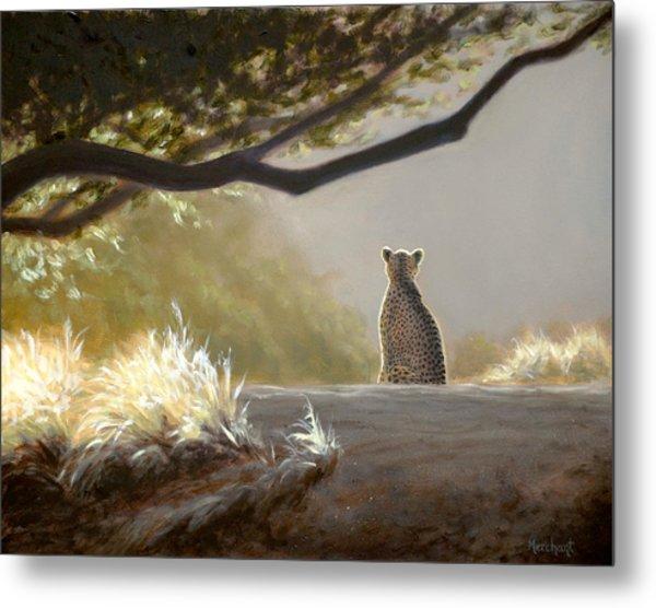 Keeping Watch - Cheetah Metal Print