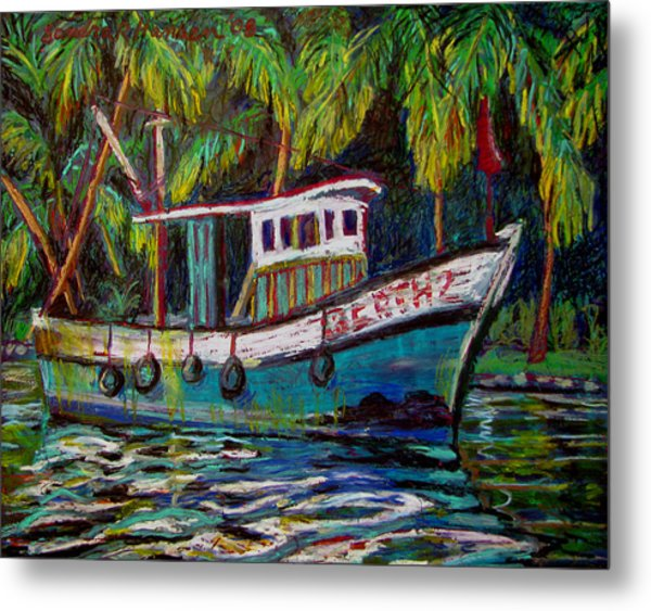 Kerala Fishing Boat  Metal Print