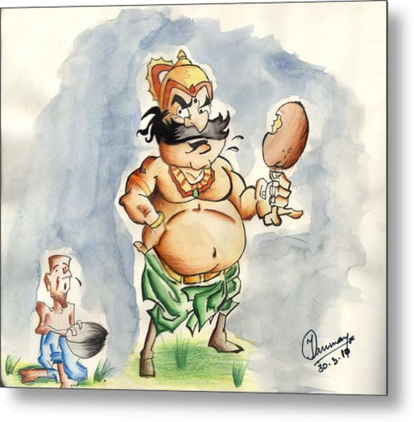 King And Beggar Metal Print by Tanmay Singh