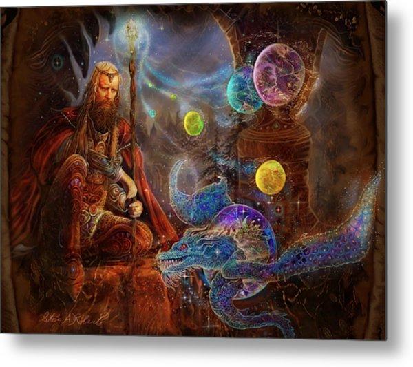 King Arthur's Merlin Metal Print