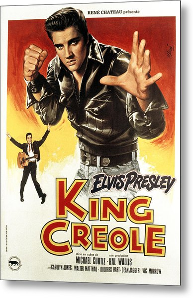 King Creole, Elvis Presley, 1958 Metal Print by Everett