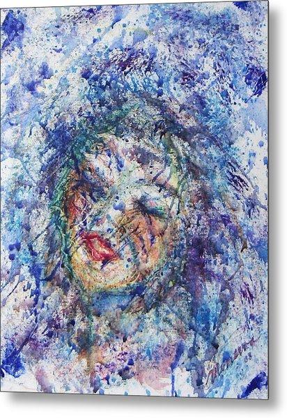Kiss The Rain Metal Print by Cathy Minerva
