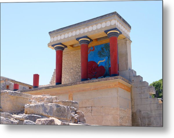 Knossos North Gate View Metal Print