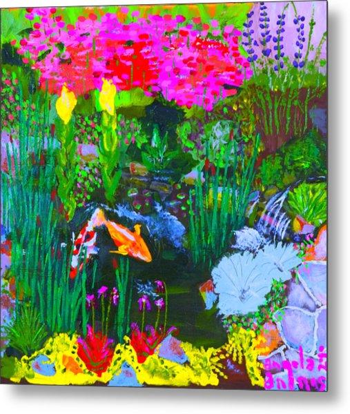 Koi Pond I Metal Print