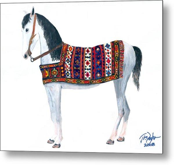 Kurdistan Pony Metal Print