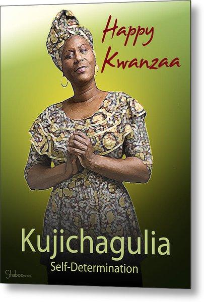 Kwanzaa Kujichagulia Metal Print