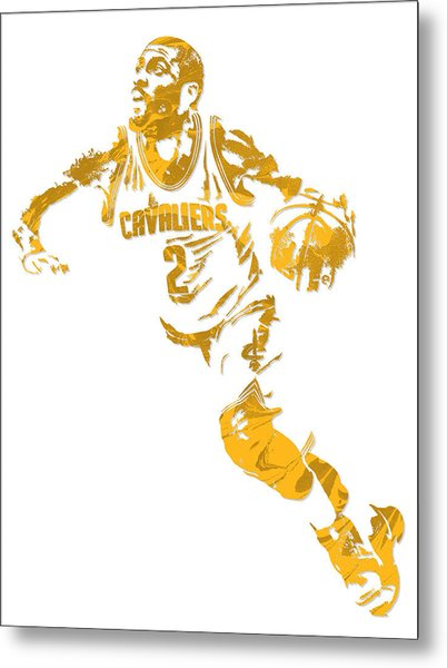Kyrie Irving Cleveland Cavaliers Pixel Art 11 Metal Print