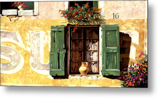 la finestra di Sue Metal Print