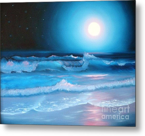 La Luna  My Seascape Collection Metal Print