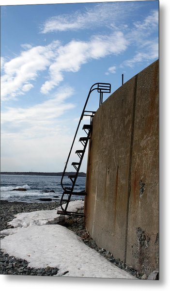 Ladder To The Snow Metal Print by Jeff Porter