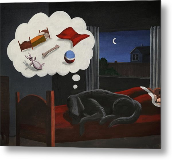 Lady Dreams About Her Favourite Things Metal Print
