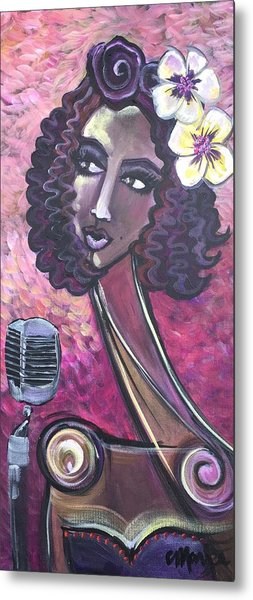 Metal Print featuring the painting Lady Lauren Midnight Singer by Laurie Maves ART