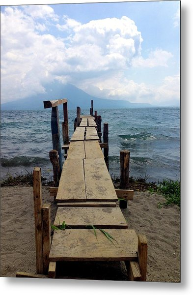 Lake Atitlan Dock Metal Print