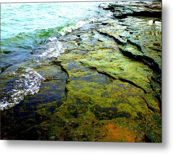 Lake Erie Flat Rocks  Metal Print