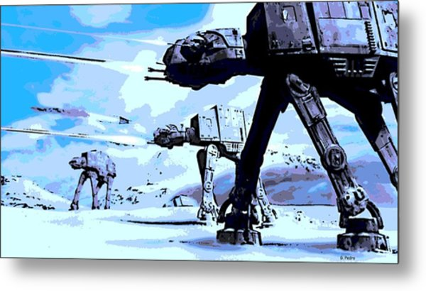 Land Battle Metal Print