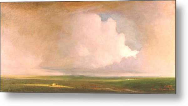 Landscape In Summer Metal Print