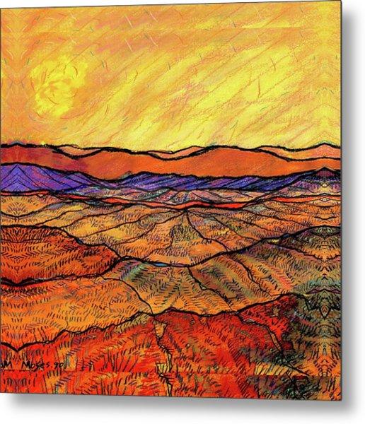 Landscape In Yellow Metal Print