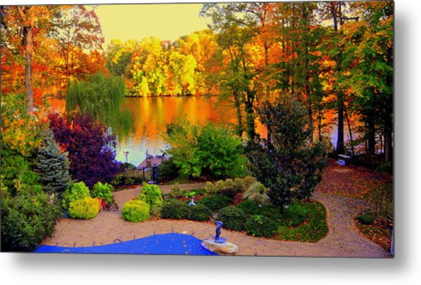 Landscaped Grounds Metal Print