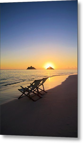 Lanikai Lounging At Sunrise Metal Print