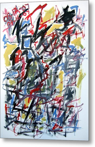 Large Abstract No. 5 Metal Print by Michael Henderson