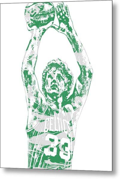 Larry Bird Boston Celtics Pixel Art 5 Metal Print