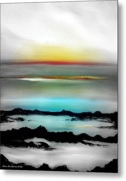 Lava Rock Sunset Metal Print