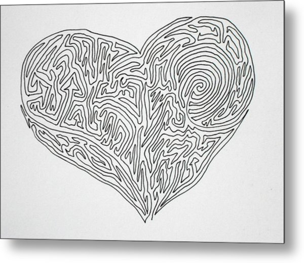 Laying Your Heart On A Line  Metal Print