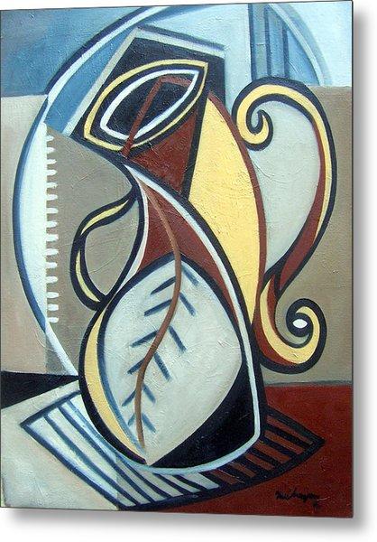 Leaf Vase Metal Print by Martel Chapman