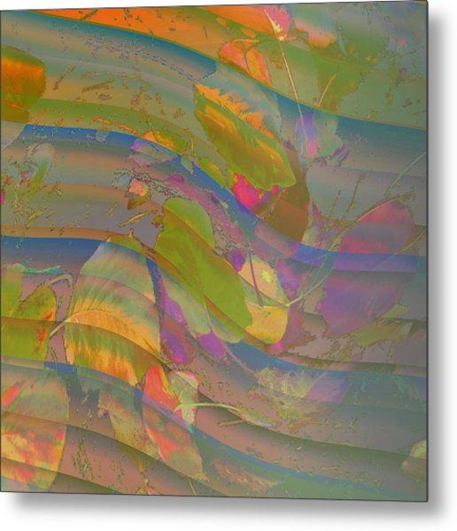 Metal Print featuring the digital art Leave Print by Visual Artist Frank Bonilla