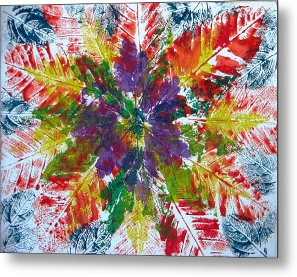 Leaves Alone Metal Print by Libby  Cagle