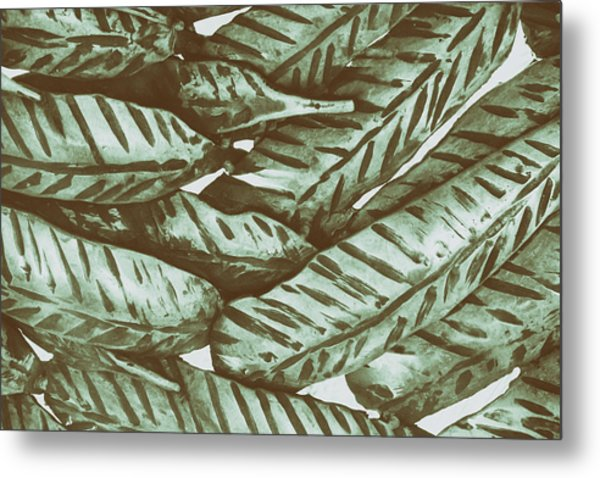 Leaves No. 3-1 Metal Print
