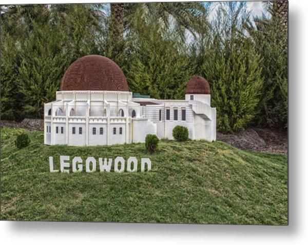 Legowood Metal Print