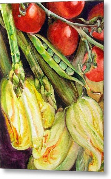 Legumes Metal Print by Muriel Dolemieux