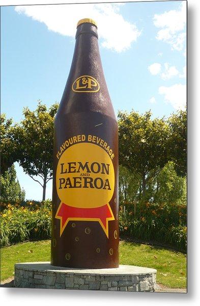 Lemon And Paeroa Metal Print by Amy Jayne Roper