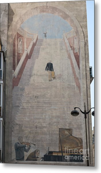 L'escalier By Fabio Rieti Metal Print