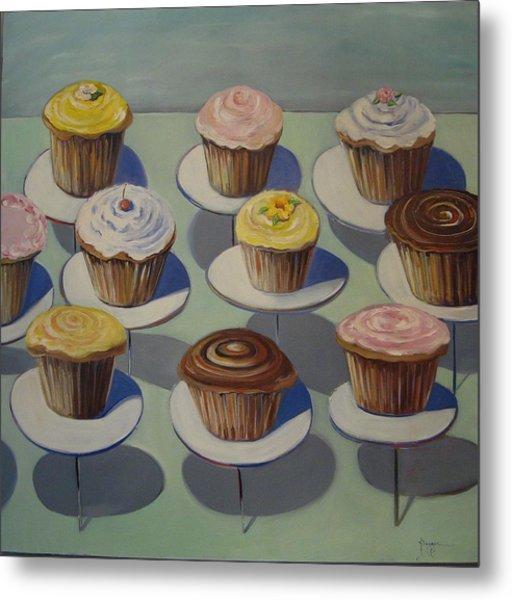 Let Them Eat Cupcakes Metal Print by Yvonne Dagger