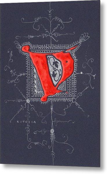 Letter V Metal Print by Kristine Jansone