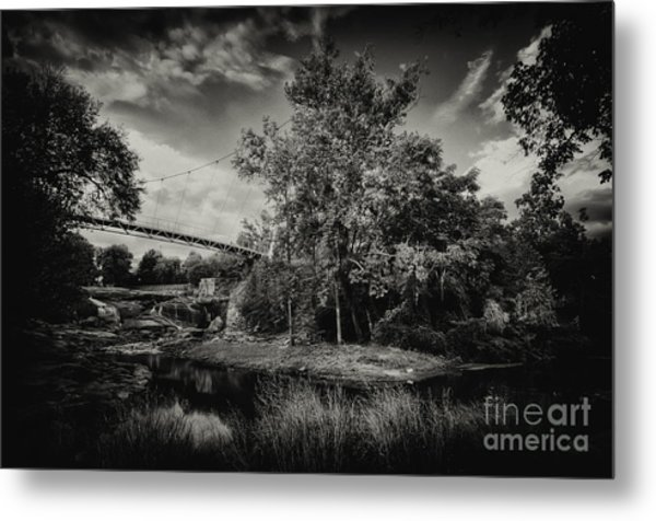 Liberty Bridge Greenville Sc Metal Print