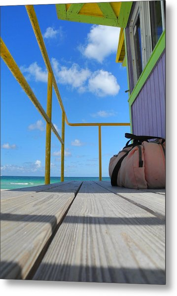 Lifeguard Tower 2.2 - South Beach - Miami Metal Print