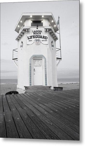 Lifeguard Tower Metal Print
