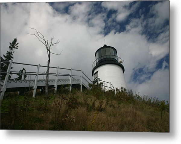 Light In The Sky Metal Print by Dennis Curry