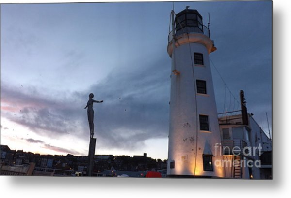Lighthouse Lady 2 Metal Print