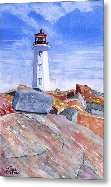 Lighthouse Peggys Cove Metal Print