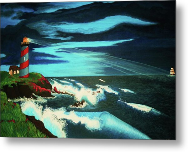 Lighthouse Rescue Metal Print